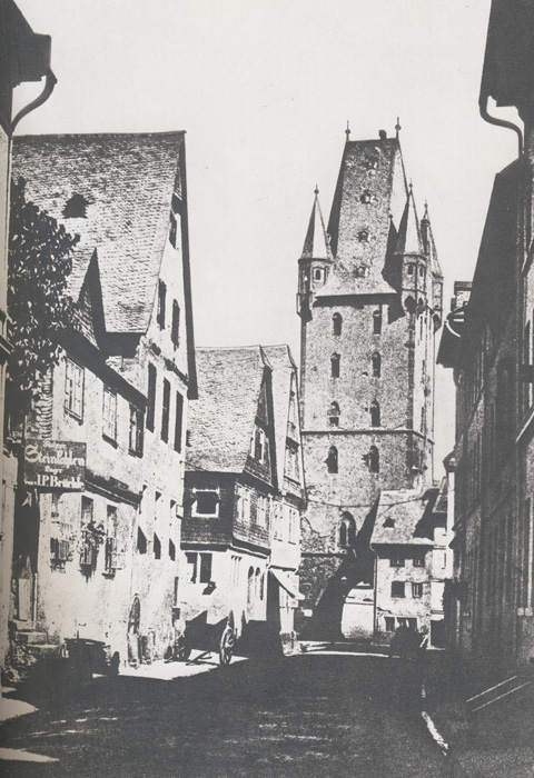 Holzturm, ca. 1860. (Quelle: United Archives)